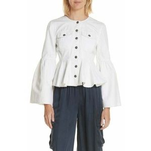 Cinq a Sept Josephina Flare Pleated Ruffle Jacket